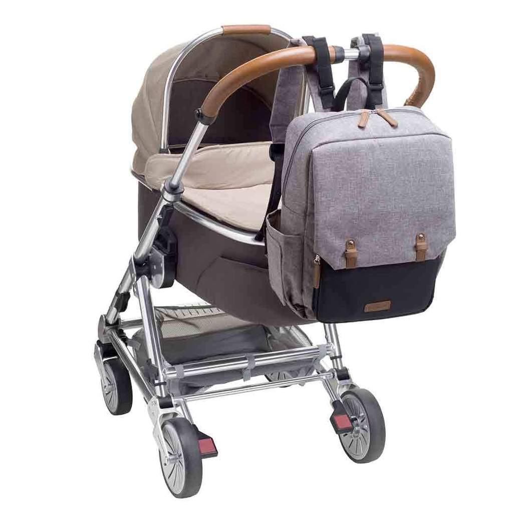 Babymel George Changing Bag in Grey/Black - Natural Baby ...