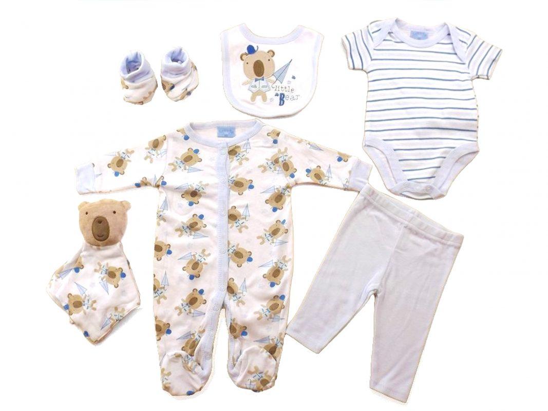 Bear 7-Piece Layette Set | BabyTots | Personalised Soft ...