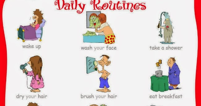 TUTTOPROF. Inglese: Daily Routines - flashcard