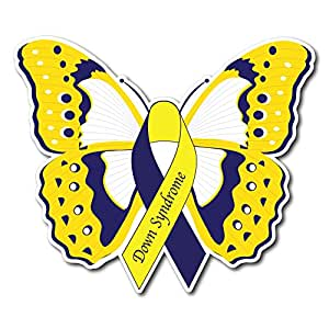 Amazon.com : Down Syndrome Awareness Butterfly Sticker ...