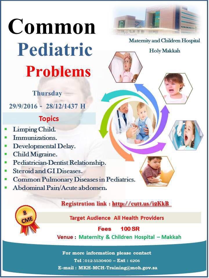 Common Pediatric Problems 29 September 2016